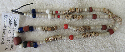 Very Nice Strand Of Old California Trade Beads With Doc--Nr!