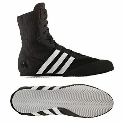 Adidas Box Hog 2 Boxing Boots Adult Kids Black Trainers Boxing Ring Fight Shoes
