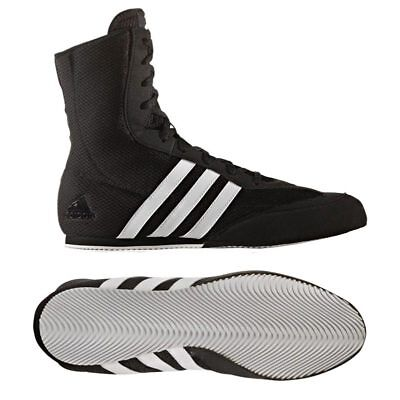 Adidas Box Hog 2 Boxing Boots Adult Mens Black Sports Training Footwear Shoes