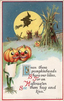 HALLOWEEN POSTCARD PUBLISHED H.I.R. SERIES #363 POSTALLY USED OCTOBER 19th, 1914