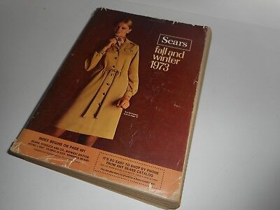 Vintage 70s 1973 Sears Fall Winter Catalog Midwest Edition