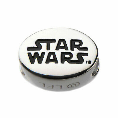 Star Wars Engraved Logo Stainless Steel Bead Charm