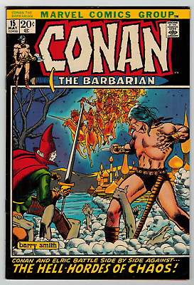 Conan The Barbarian # 15 - Barry Smith - Elric Of Melnibone - Fn+ 5.5