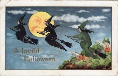"Halloween Postcard, Published By Whitney, ""a Joyful Hallowe'en"" Used 1914"