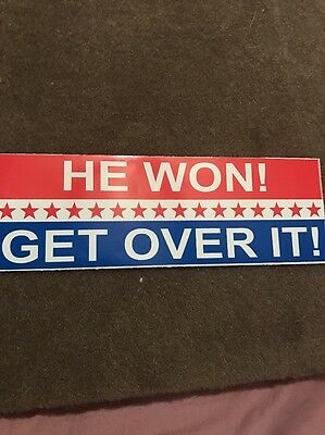 Trump 2017  He Won Get Over It. Sticker