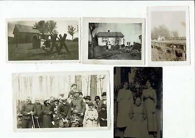 Lot of 10 antique and vintage real photos