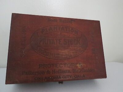 Antique 1900- 1940 Wood Cigar Box Boite Nature State Beauties Type 1 Ball Pivot