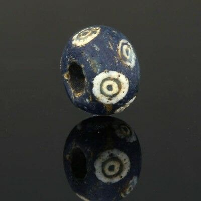Ancient glass beads: eye bead, 3-1 century BC, Mediterranean region & Persia