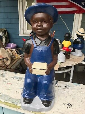 Black Hookey Boy Concrete Statue.. Newest Addition Statues  West Creek Nj