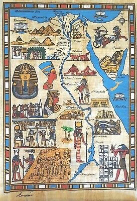 WHOLESALE  EDUCATIONAL LOT OF 10  Ancient Egyptian Sites Map  LARGE  10% SPECIAL