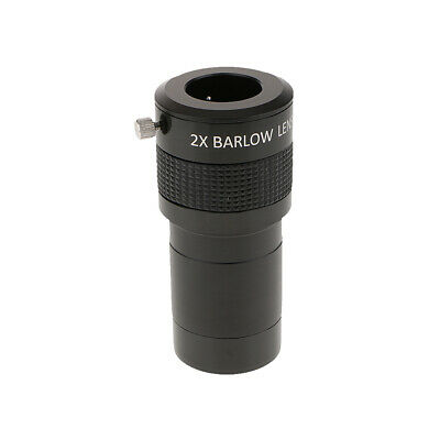 "2"" ED 2x Barlow Lens for Astronomy Telescope with 2"" to 1.25 "" Adapter Black"
