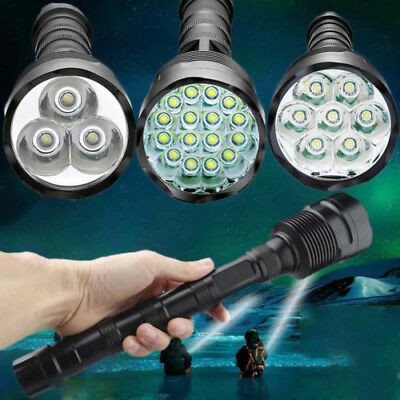 Tactical 90000LM T6 LED Super Bright Light Rechargeable Flashlight Torch Lamp ·