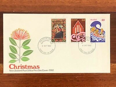 1982 New Zealand Christmas First Day Cover as purchased