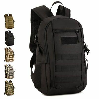 US 12L Outdoor Molle Tactical Military Rucksack Backpack Shoulder Bag Hike Camp
