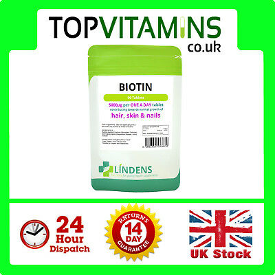 Biotin 5000mcg 90 Tablets ✰ High Strength Healthy Hair Skin Nail Growth Beauty ✰