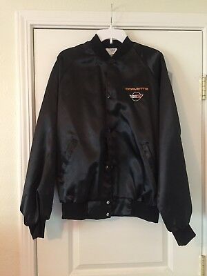 Vtg Corvette Westark USA Windbreaker Jacket Mens Sz XL Nylon Satin Finish Exc.