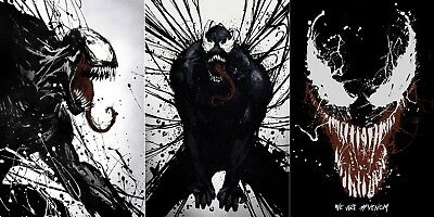 "Venom Movie Poster Tom Hardy Marvel Comics 24x36"" 27x40"" 32x48"" Art Film Print"