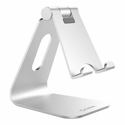 Adjustable Desktop Stand Heavy Duty Aluminum with 270 Degree Rotation Silver