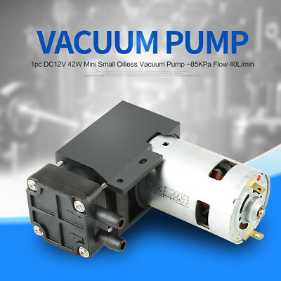 DC12V 42W Small Oilless Vacuum Pump -85KPa Flow 40L/min for oxygen generators