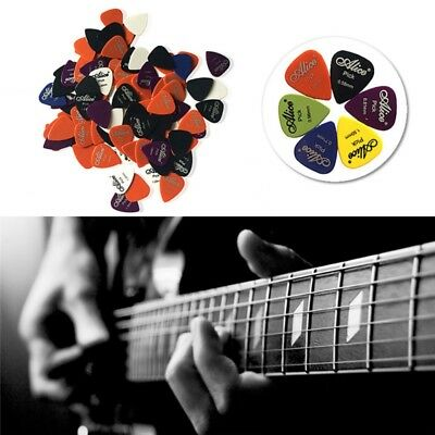 US 100pc Electric Guitar Folk Pic Acoustic Music Pick Plectrum Assort Thickness