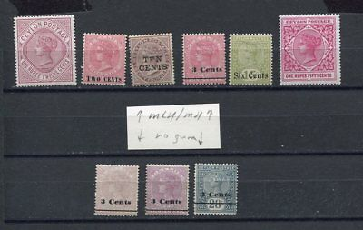 (AU344) Ceylon old stamps MLH/MH/no gum see scan rupee >>
