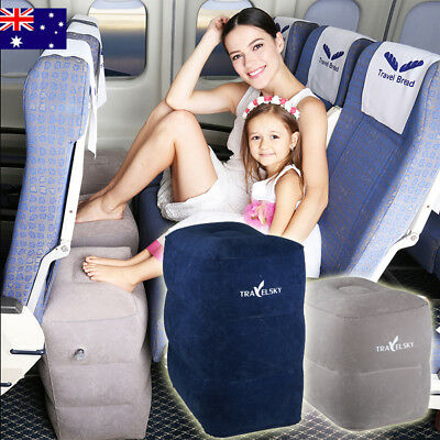 Airplane Car Travel Inflatable Foot Leg Rest Pillow For Kids & Adults Cushion AU