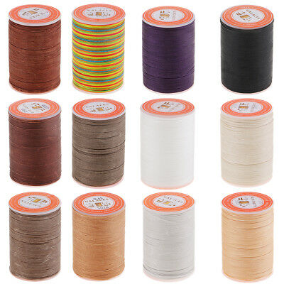 0.45mm Leather Craft Sewing Hand Round Waxed Wax String Thread Repair Cord