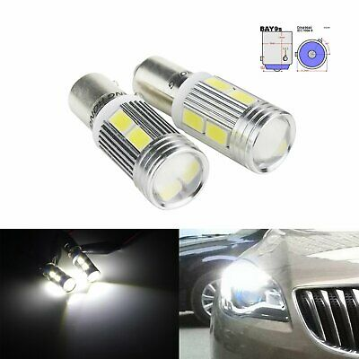 2x H21W BAY9s 10 SMD LED Blanc Xenon Ampoules Clignotants Veilleuse Lampe 12V
