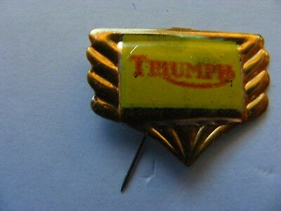 TRIUMPH  motorcycle very old pin badge..1950s ..tinplate/tinlitho.