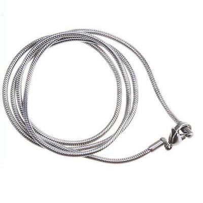 """1pc Stainless Steel 2mm Wide Mens Womens 22"""" inch Long Chain Silver Necklace"""