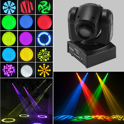 30W LED Spot Light RGBW Stage Moving Head 8 DMX512 Master-slave Hurry Party DJ