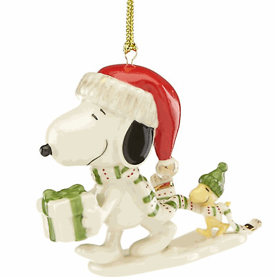 Lenox Snoopy's Holiday Gift Ornament - New 2018