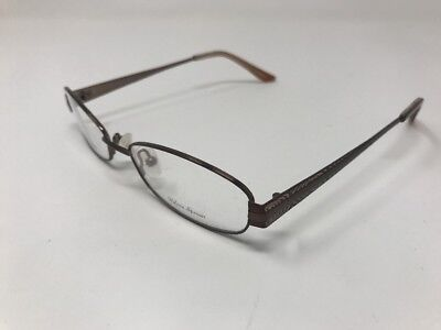 6637645bb264 Valeria Spencer Eyeglasses VS9154 Mocha Metal Frame 52-17-135mm Half Rim  EH18