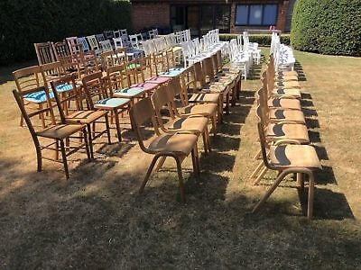 86 vintage wooden chairs job lot