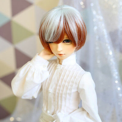 12cm Short Straight Hair Wig Hairpiece for 1/3 BJD SD DZ DOD LUTS Doll Accs