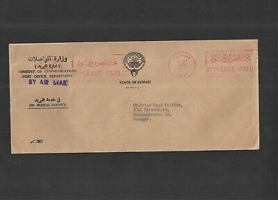 Kuwait 1979 - Commercial Cover to Germany; On Postal Service, by air mail.