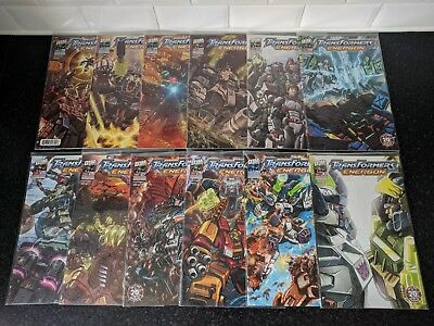 Dreamwave Transformers Energon comic bundle