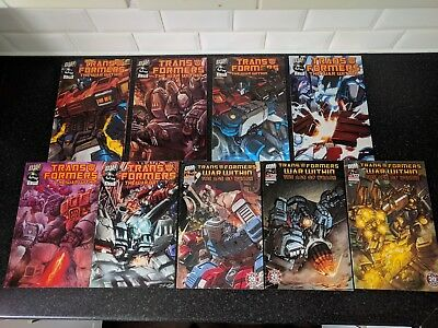 Dreamwave Transformers The War Within comic bundle