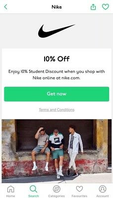 NIKE 10% discount code From UNiDAYS