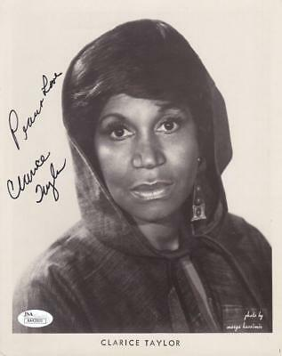 CLARICE TAYLOR d. 2011 Signed Love 8x10 B&W Photo Actress/Cosby Show JSA AA42800