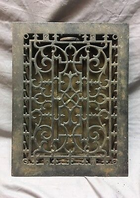 Antique Cast Iron Victorian Heat Grate Floor Register 10x14 Vtg Old   11-18C