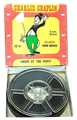 CHARLIE CHAPLIN STD 8mm B&W FILM - 'CHAOS AT THE PARTY' - 50ft FROM ATLANTIS
