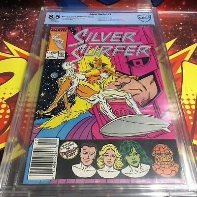 Marvel Comics SILVER SURFER #1 8.5 CBCS GRADED 1987 (not cgc, pgx)