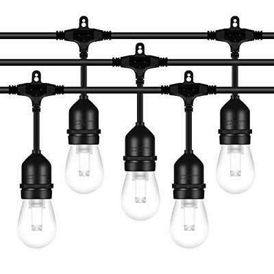 AntLux 52FT LED Outdoor String Lights - 2W Dimmable Vintage Edison Bulbs - Heavy