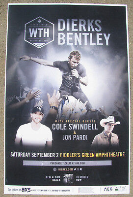 DIERKS BENTLEY What The Hell Tour 2017 - Fiddlers Gig Flyer 11x17 Concert Poster