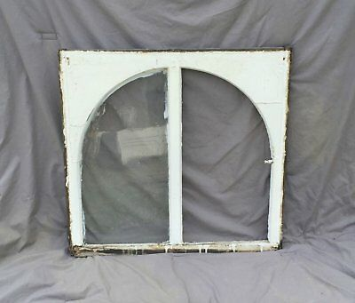 Antique Window Sash Dome Top Cabinet Arch Top Shabby Cottage Chic Vtg 981-16