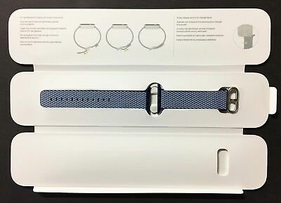 Genuine Apple Watch Woven Nylon Band (42mm, Midnight Blue) - New Other!