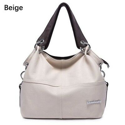 Womens Lady Handbag PU Leather Clutch Shoulder Bag Messenger Tote D