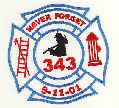 91101 New York Fire Department 343 Never Forget Patch