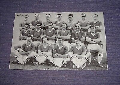 Original WALSALL F.C. Football Team Photo Card 1961